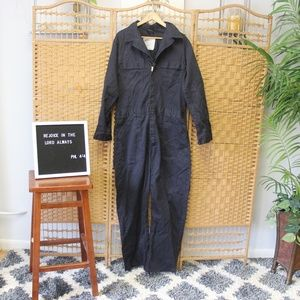 Vintage Navy Blue Coveralls Boiler Suit Sz 42 XL